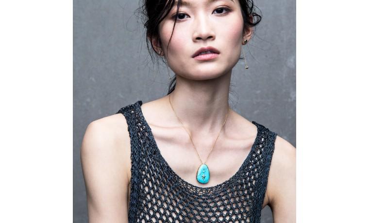 Blissful turquoise large pendant