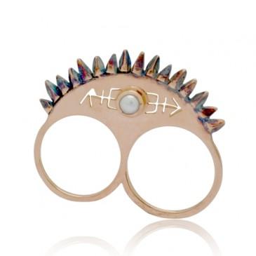 Glacier Blade Knuckle Ring