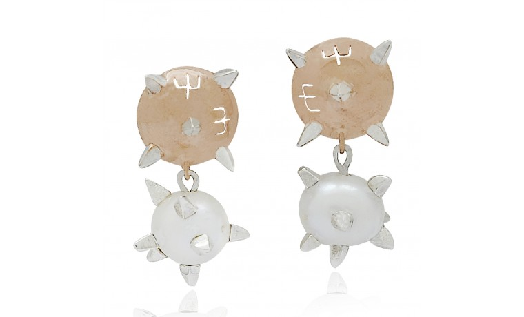 Rosy Compass Earrings