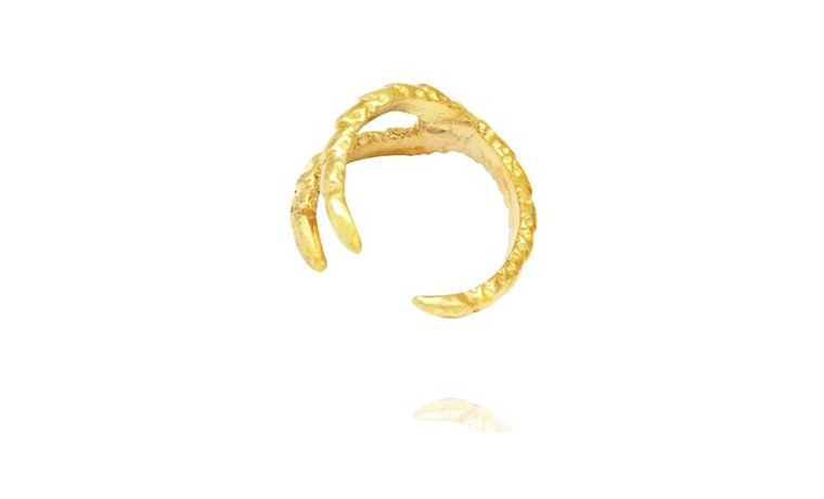 Textured Claw Ring