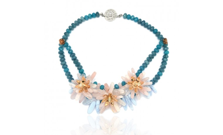 TRIO FLOWER NECKLACE