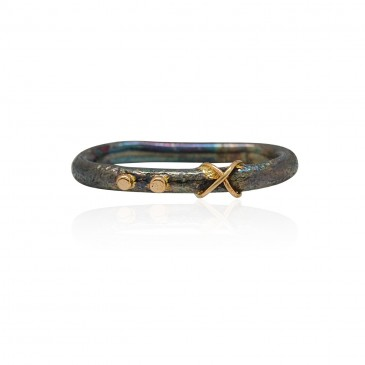 X Intertwined Double Ring