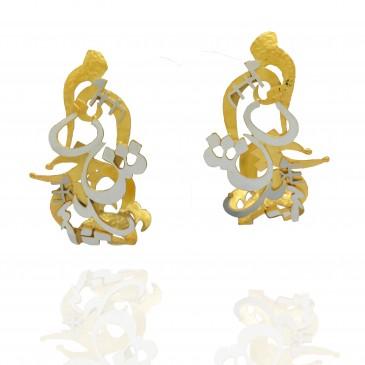 Mantras Curved Earrings