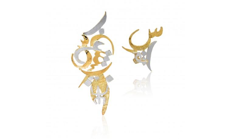 Mantras Asymmetrical Earrings